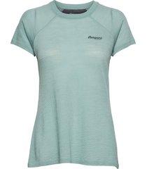 flyen wool w tee t-shirts & tops short-sleeved grön bergans