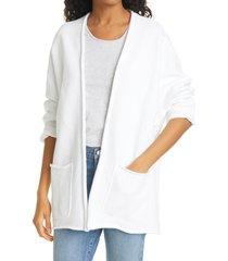 women's frank & eileen beach cardigan, size x-small - white