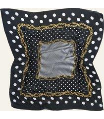 pañuelo negro nuevas historias cadenas y lunares ba536-12