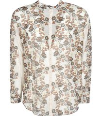 dsquared2 floral print round collar shirt
