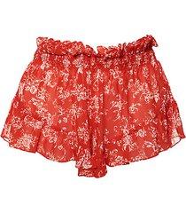 floral-print ruffled shorts