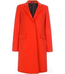coral cashmere and virgin wool epsom coat