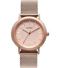 relógio euro strong woman spikes rosé feminino - feminino