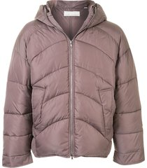 random identities oversized padded jacket - purple