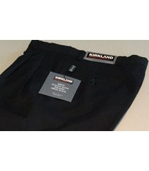 nwt kirkland signature men dress pants italian 100% wool size 34x30 34x32 34x34