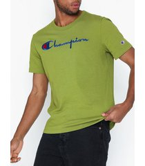 champion reverse weave crewneck t-shirt t-shirts & linnen green