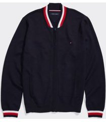 tommy hilfiger men's adaptive baseball sweater jacket sky captain - s