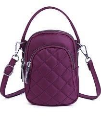 donna nylon borsa multi-tasca per cellulare lingge crossbody borsa spalla leggera borsa
