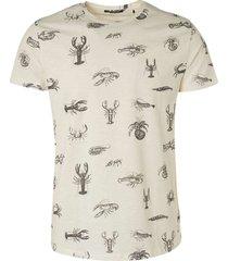 no excess t-shirt crewneck slub allover print offwhite