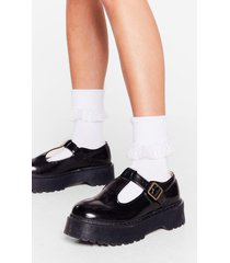 womens total frill-seeker lace ankle socks - white