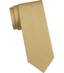 hanger-print silk tie