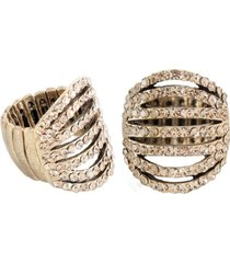 anel armazem rr bijoux vazado cristais cravejados dourado