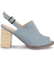 zapato tipo sandalia celeste - azul