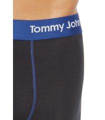men's tommy john cool cotton boxer briefs, size medium - blue