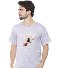 camiseta sandro clothing photograph cinza - cinza - masculino - dafiti