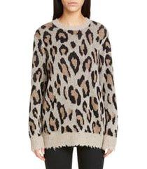 women's r13 leopard cashmere sweater