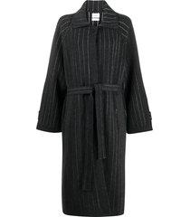 barrie balmacaan cashmere cardi-coat - grey