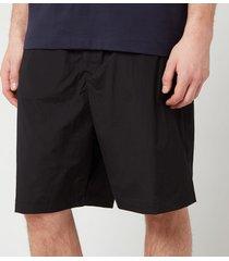 y-3 men's travel stretch nylon shorts - black - l
