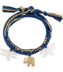 aurelie bidermann honolulu bracelet - blue