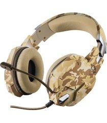 audifono diadema gamer trust gxt 322d desert camo 3.5 mm pc-laptop-ps4- xbox one cafe camuflado