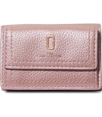 marc jacobs mini the softshot pearlized trifold wallet - pink