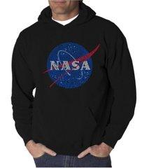 la pop art men's word art hoodie - nasa meatball logo
