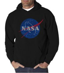 la pop art men's word art hoodie - nasa meatball logo