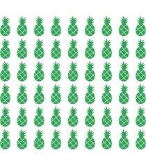 adesivo de parede decohouse abacaxi verde
