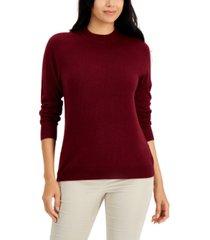 karen scott cotton luxsoft mock-neck sweater, created for macy's