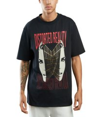 guess men's distorted reality t-shirt