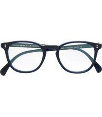 oliver peoples armação de óculos 'finley esq' - azul