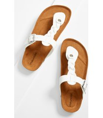 maurices womens lauren white braided strap sandal