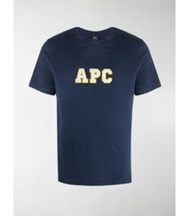 a.p.c. logo organic cotton t-shirt