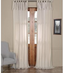 "exclusive fabrics & furnishings solid cotton tie-top 50"" x 108"" curtain panel"