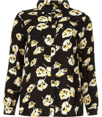 blouse met bloemenprint una  zwart