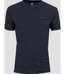 t-shirt med ränder - marinblå
