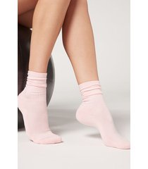 calzedonia sport socks woman pink size s/m