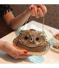 2017 new womens fashion banquet clutch diamond owl hard case evening bag wedding