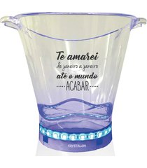 balde de gelo com led personalizado para dia dos namorados - incolor - dafiti