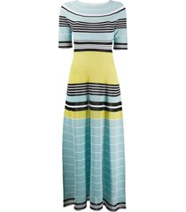 striped multicolored maxi dress