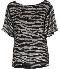 parosh sweater s/s v neck w/paillettes