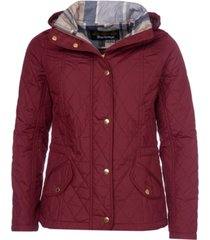 barbour millfire hooded quilted coat