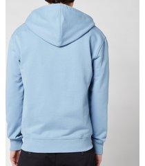 ami men's de coeur zip through hoodie - light blue - l