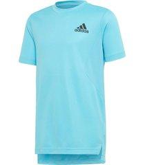 camiseta adidas heat.rdy azul