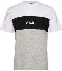 men anoki blocked tee t-shirts short-sleeved grå fila
