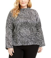 eileen fisher plus size abstract-print top, created for macy's