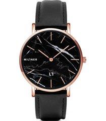 reloj  camden marble black millner