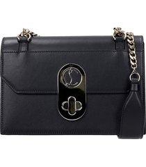 christian louboutin elisa shoulder bag in black leather