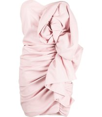 alexandre vauthier strapless leather mini dress - pink