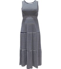 style & co striped sleeveless maxi dress, created for macy's